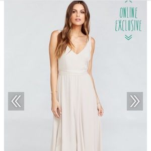 """Show me your mumu """"crisp"""" fitted backless dress"""